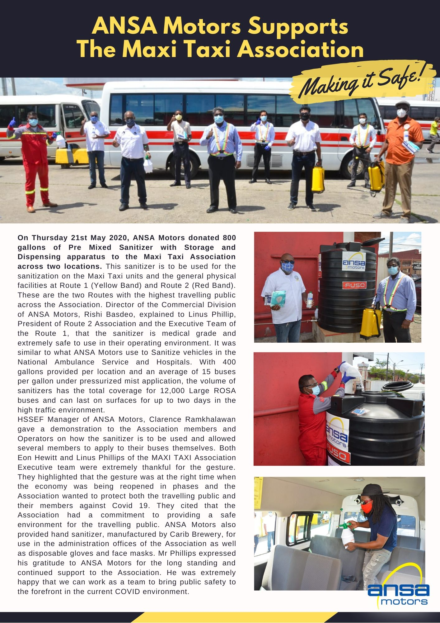 ANSA Motors Supports the Maxi Taxi Association