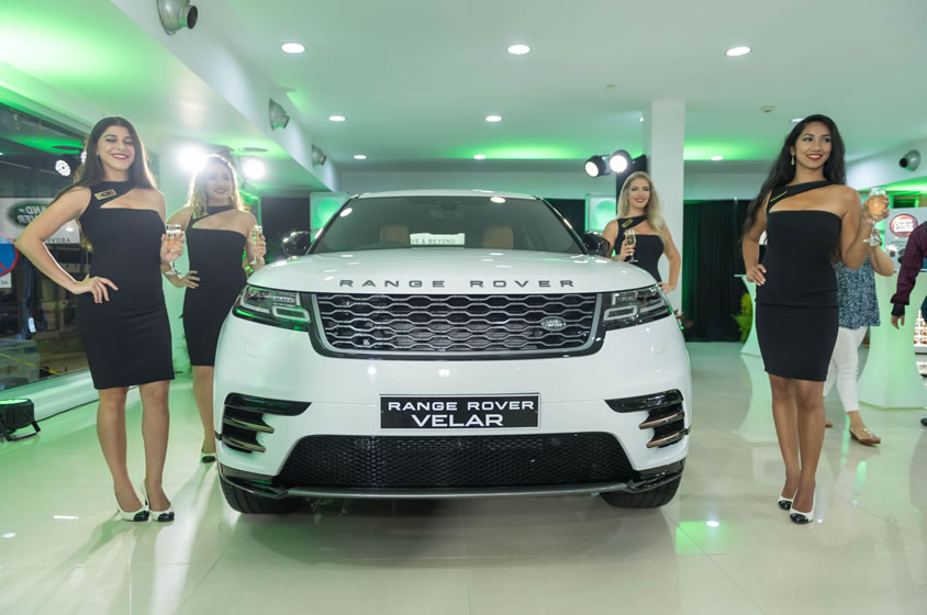 The Range Rover Velar launch